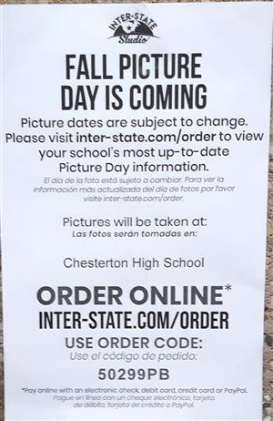 Fall Picture Day Information Flyer