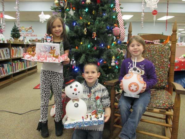 Snowman contest winners
