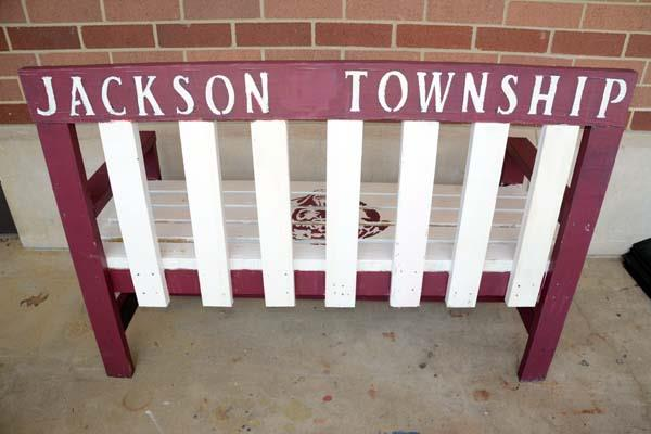 Photo of back of Jackson bench