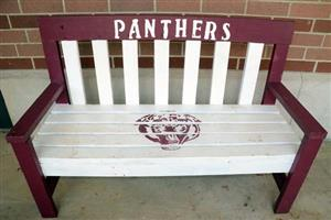 Photo of the front of Jackson bench