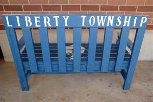 Photo of back of Liberty bench
