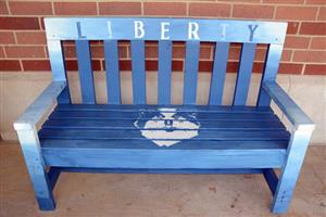 Photo of the front of Liberty bench