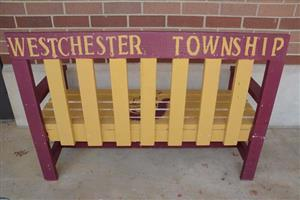 Photo of back of Westchester bench