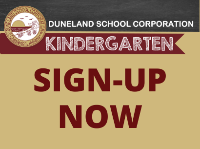 Kindergarten Sign Up Message