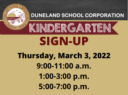 DSC Kindergarten Sign-Up 2021