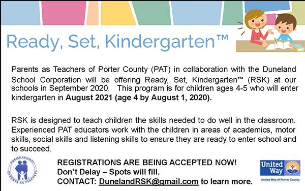 Ready, Set Kindergarten Program Flyer Info