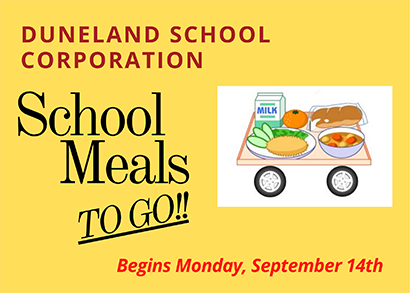 School Meals TO GO! begins Sept. 14