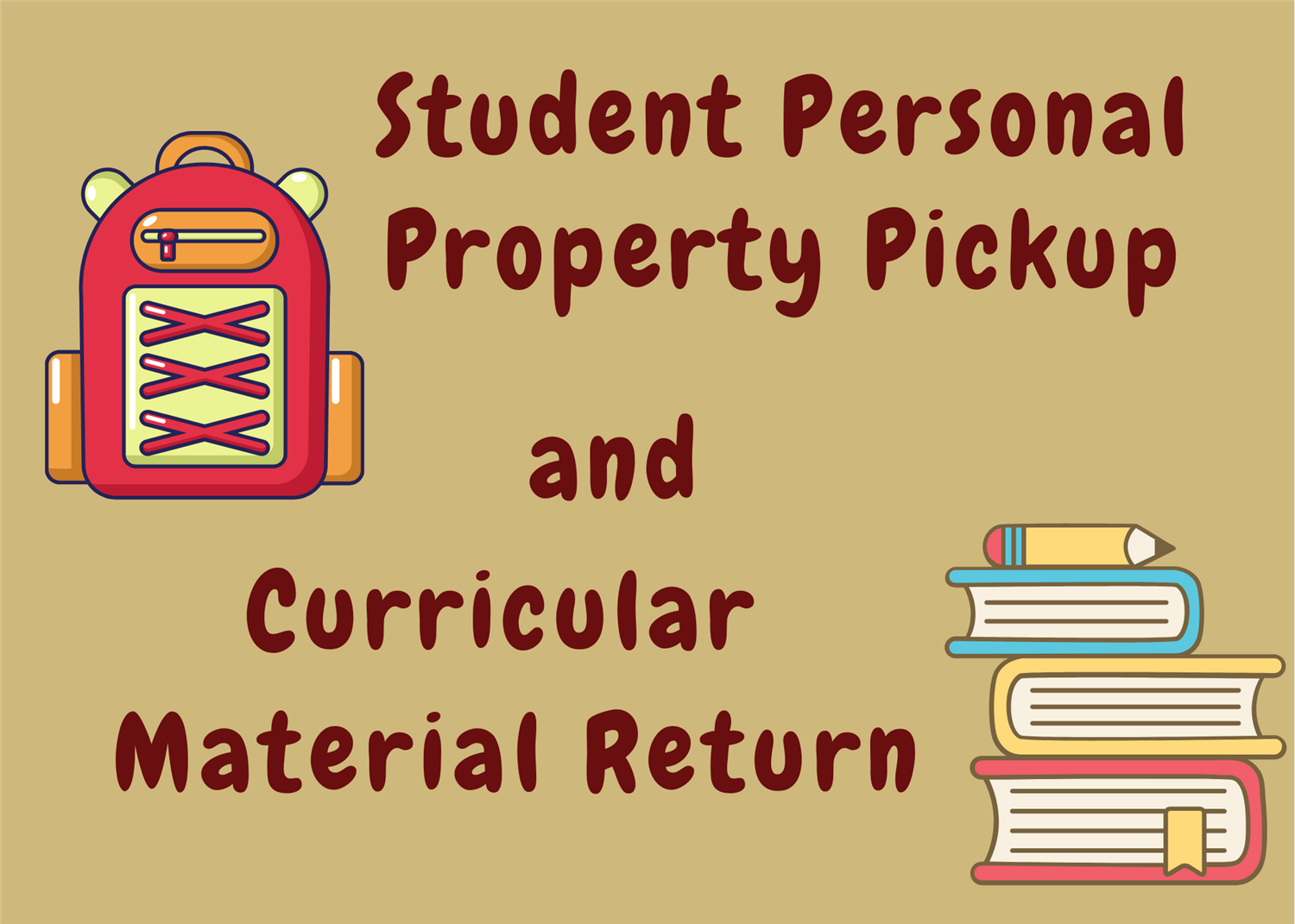 Student Belongings Pickup