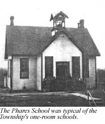 The Phares school was typical of the Township's one-room schools